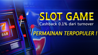 Cashback 0.1% dari Turnover Slot Game