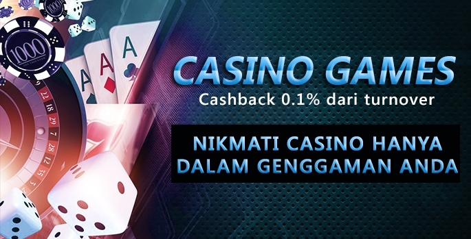 Cashback 0.1% dari Turnover CASINO GAMES